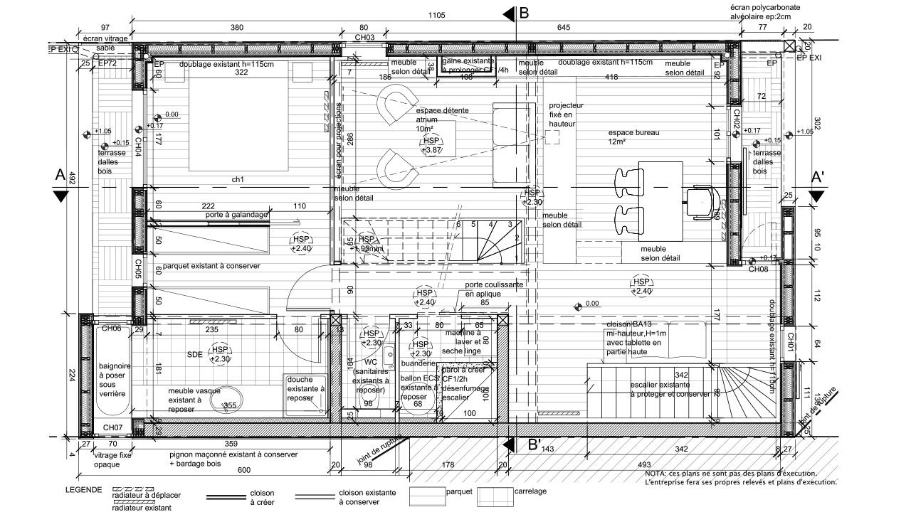 Vue En Plan Dun Duplex Pdf : Construction d un immeuble habitation et une maison